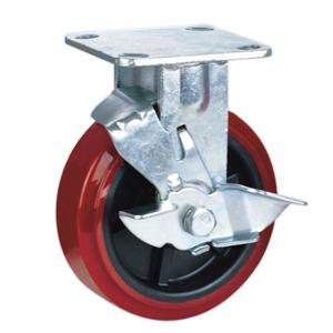 roulettes fixes avec frein h75rb 4 5 6 8 roulettes de charges lourdes roulettes. Black Bedroom Furniture Sets. Home Design Ideas